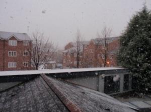 Neige sur Londres