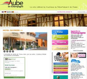 Widget TripAdvisor sur le site officiel du département de l'Aube