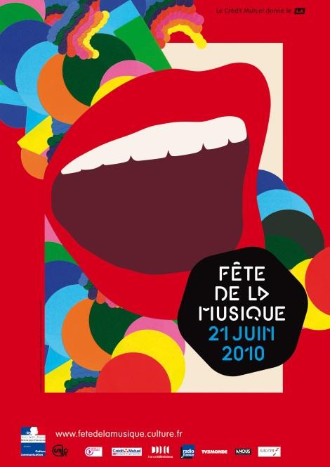 Affiche de la Fête de la Musique 2010