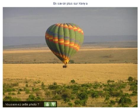 Montgolfière Kenya