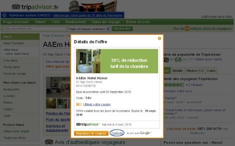 Offre spéciale - Hôtel Hanoi